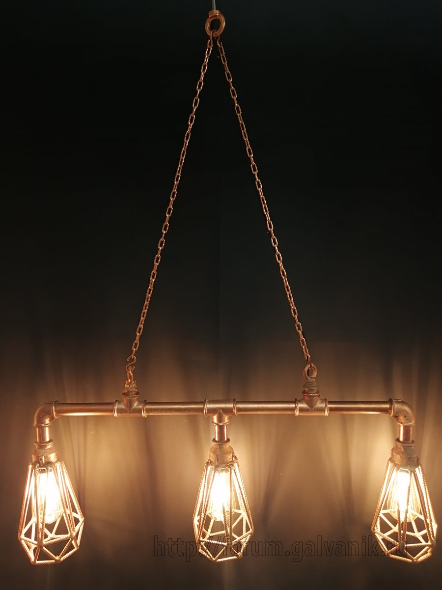 pipe lamp copper-plated